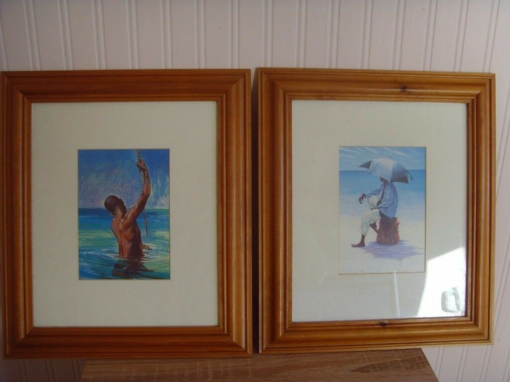 2 FRAMED PICTURES - £1 EACH