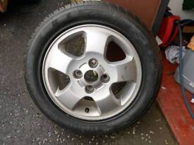 Hyundai Alloy and New Tyre