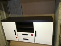 Samba: 2 Door Cupboard with 2 Drawers In Brown/White *NEW*