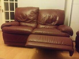 Two beautiful sofa recliners
