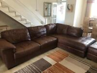 Right Hand Leather Corner Chaise Sofa