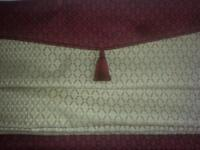 Roman blind. Professionally made. Wine and Gold colour. sixe 54 x 54