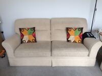 2 seater sofa, single seater and puffet
