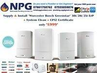 Worcester Bosch Greenstar Gas Combi Boiler 30i ErP *50% OFF SUPPLY & FIT* *From £999* (*RRP £3K*)
