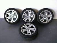AUDI S LINE ALLOY WHEELS WITH TYRES 225/45/17 A3 A4