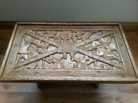 Hand carved Honduran Inca coffee table - reduced