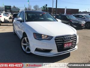 2016 Audi A3 2.0T Komfort | ONE OWNER | LEATHER | ROOF | AWD