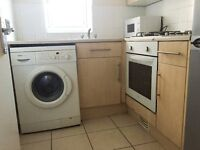 A 2 bed first floor flat with a kitchen, reception room, and bathroom, in Ilford, IG1