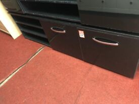 2 door black gloss sideboard