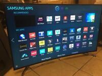 """Samsung 55"""" 4k curved smart LED Tv wi-fi Apps Bargain Warranty"""