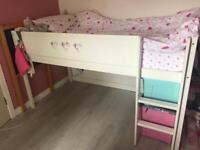 Mid sleeper white bed