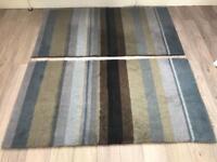 2x 150x80 cm bedside rugs