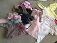Baby Girl's Clothes Bundle 3-12mths
