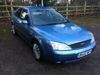 2002 Ford Mondeo 11 month mot 1.8