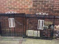 Pair of wrought iron driveway gates