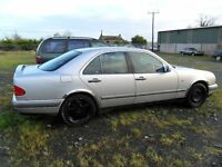 mercedes e300 parts from a 1998/9 car silver good enging and auto box
