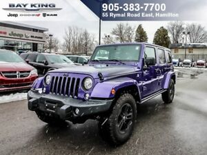 2017 Jeep Wrangler UNLIMITED, SAHARA, 4X4, GPS NAV, BLUETOOTH, R
