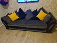 DFS 4 seater sofa with cuddle chair.