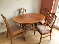 Parker Knoll extending table & 4 chairs