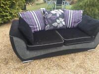 DFS BLACK FABRIC SOFA, FREE DELIVERY