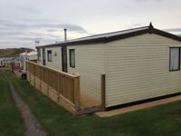 Two Bedroom (35ft by 12 ft) Atlas Park Lodge Static Caravan for sale, sited on the Gower Peninsular