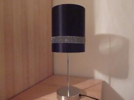 Black diamonte table/bedside light (includes LED bulb)