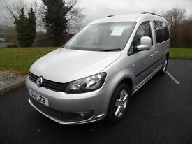 Wheelchair Accessible VW Caddy Maxi 2011 - 12 Month Warranty