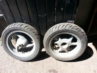 honda dylan 125 wheels back and front