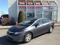 2012 Honda Civic LX * Certifié * A/C * Bluetooth * USB