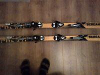 170cm Salomon Scream Pro-link skis VGC