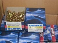 unifix wood screws gardening decking wood 5x25mm 200 per box