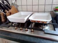 2 glass rectangle pans, £5 for set