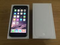 APPLE IPHONE 6 64GB SPACE GREY,FACTORY UNLOCKED,MINT CONDITION COMES BOXED