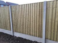 High Quality Tanalised Wooden Straight Top Close Board Fence Panels 🌳