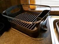 Umbra Dish Drainer Black and Chrome