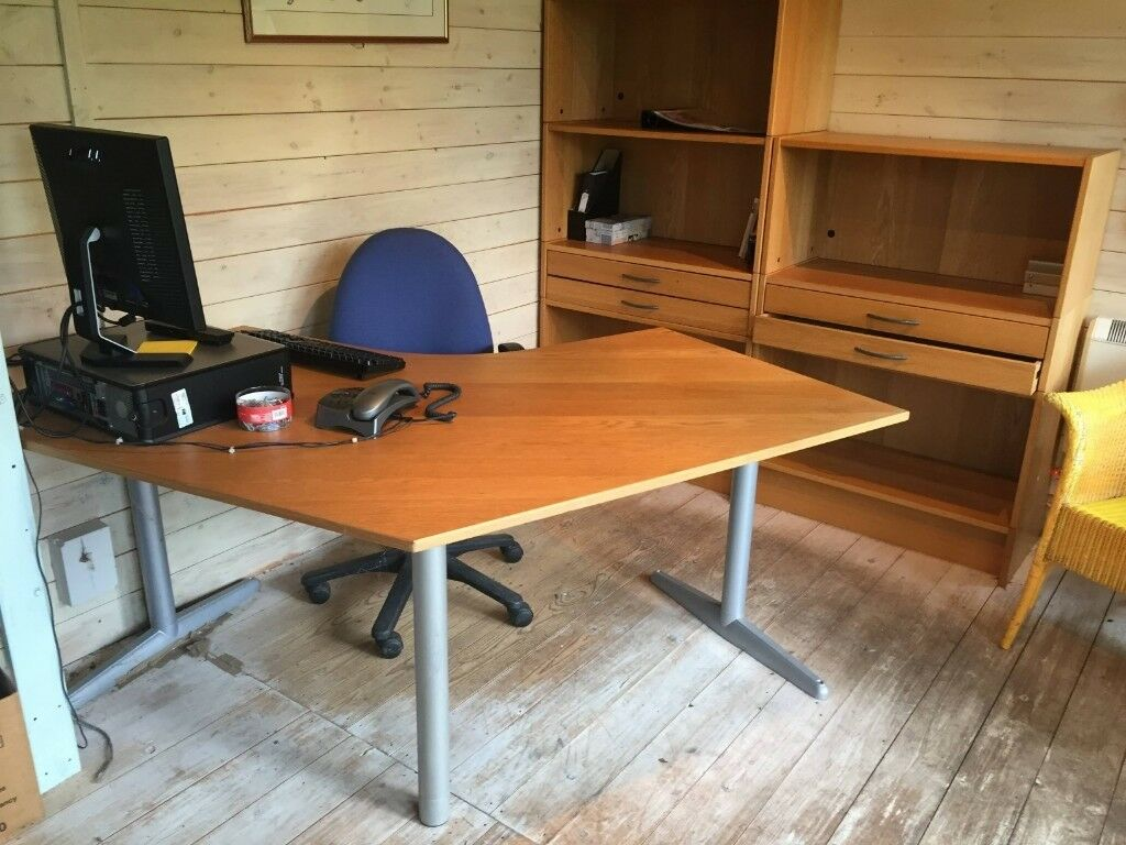 Various Office Furniture Wants Good Home 2 X Desks Chairs Storage