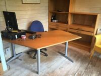 Various Office Furniture wants good home. 2 x Desks, 2 x chairs, various storage