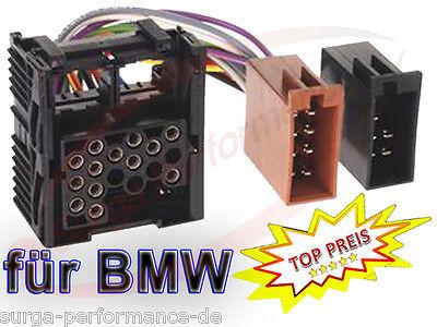 BMW 3er E30 E36 E46 E34 E39 E32 E38 E31 X5 ISO Radio Adapter Kabel Auto Stecker gebraucht kaufen  Hamburg