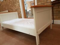 Kidsmill cotbed and changing table/cupboard. White and pine finish.
