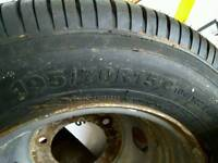 Transit wheel and new tyre 195 70 r15