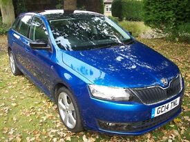 SKODA RAPID SPACEBACK SE 1.4 TSI DSG AUTO ONLY 18K MILES WITH LOADS OF OPTIONAL EXTRAS - 2014