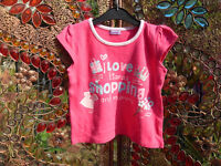 Girls Pink Slogan T-Shirt (BHS) Age 2-3 Years