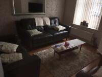 DFS 4 Piece Leather Sofa Set