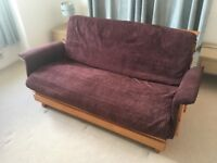Double Futon Sofa Bed - As New