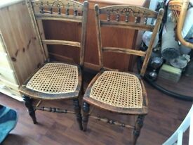 LOVELY CARVED CHAIRS £18 EACH