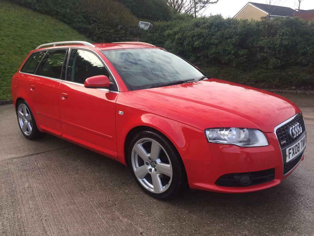 audi a4 avant s line tdi 140 2 0 diesel 5 door estate red 2008 year in bradford west. Black Bedroom Furniture Sets. Home Design Ideas