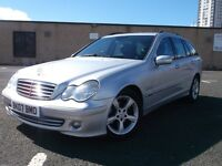 MERCEDES-BENZ C200 DIESEL ESTATE 2007 AUTO 3 MONTHS WARRANTY MOT FULL YEAR 2 KEEPERS SILVER BLUE TOO