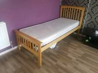 Single bed, wooden frame, foam mattress, excellent condition, delivery