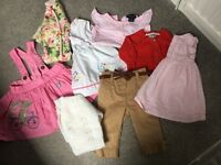 Baby girl clothes bundle 6-9 months