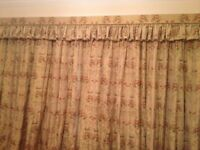 Silk Handmade Fully Lined Curtains with Pelmet to match